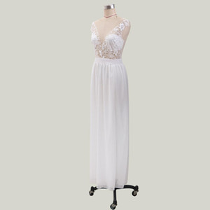 Womens Casual Lace Chiffon V Neckline High Split Short Sleeve Long Gown Party Dress Ladies Skinny Summer Wedding Dresses