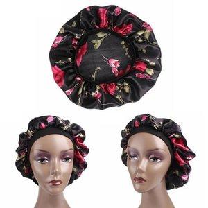 Confortable nuit de sommeil Chapeau doux soie cheveux Bonnet Avec Salon Coloring HairLoss Couleur Mise en évidence large bande Cap Hairstyling