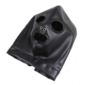 Bondage Head Leather Bondage Mask Face Toys Gn3124 For Bdsm Faux Women Breathable Hood Adult Sex Visiable Leather Head Gear Gn312400011 Ouig
