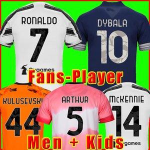 Juventus maillot de foot Version pour les joueurs Maillots de football 2020 2021 RONALDO DYBALA MORATA McKENNIE KIMPEMBE 20 21 JUVE kit de la hommes + enfants enfant humanrace