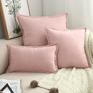 Cilected Nordic Luxury Cushion Covers 1Pc Suede Square Pillow Covers Decorative Solid Throw Pillows Cover For Sofa 45*45 60*60Cm