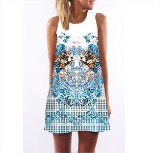 New Dress Fashion Summer Style Women Dresses Sleeveless O Neck Vintage Dress Womens Beach Vestido De Festa designer clothes
