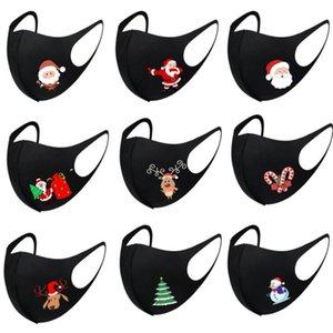 Silk Mask albero Babbo Natale Stampa Maschera maschere di Natale di seta del latte maschere Moda anti polvere faccia lavata traspirante Mask BWC3192