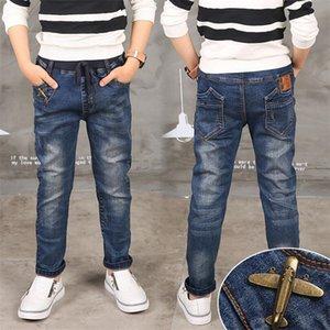 Boy Jeans Limited Follow Solid Casual для осенних мальчиков джинсы, детские джинсы моды, для возраста 3 4 5 6 7 8 9 9 10 11 12 13 14 лет LJ200821