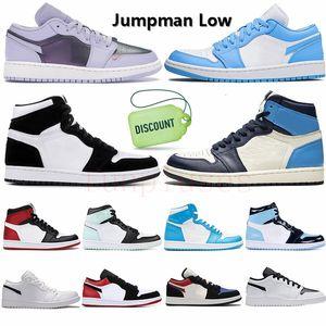 Nike Jordan Air Retro 1 Jordans 1s scarpe da pallacanestro UNC OG SP Travis Scott Obsidian Paris Chacigo formatori da uomo scarpe da ginnastica da donna 36-47