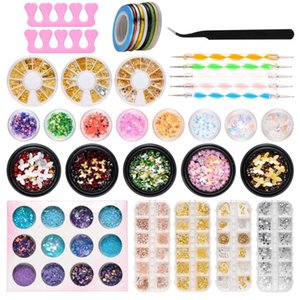 39pcs Professional Nail Kit Nail Rhinestones Pearls Butterfly Glitter Sequins For Art 3D Decorations Manicure Accessories