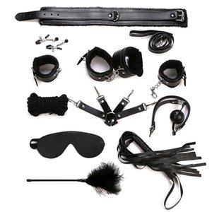속박 로프 핸드 PC / 세트 가죽 BDSM Bondage Mask Toys Sex Couples S Adult Sexy Ankle Erotic PU 10 Kit Y18101501 Wwjjn Cocal