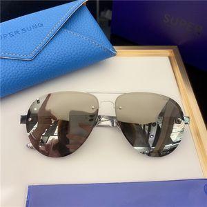 907 남성과 여성을위한 자외선 보호가있는 패션 선글라스 빈티지 타원형 프레임리스 인기있는 최고 품질의 경우 클래식 선글라스