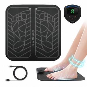 Pies muscular Anlan eléctrico ccsme masajeador de pies ABS fisioterapia revitalizante Pedicura pie vibrador sin hilos Estimulador unisex kDZW #