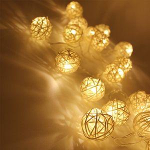 220v 6m 40 Led Warm White Led Ball Light Fairy String Light Holiday Lighting Rattan Ball Led Light Wedding Party Decoration Swy wmtTaE