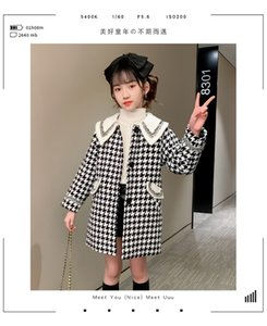Girls' spring and autumn small fragrant coat 2020 new 5 big children 6 foreign style 7 fashionable 8 woollen 9 coat 10-12 years old