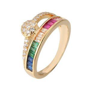 o مكعب زركونيا الذهب ملء الدائري تاج فنجر جوهرة الذهب لوحة الدائري تشيكوسلوفاكيا سيدة الذهب الماس الدائري