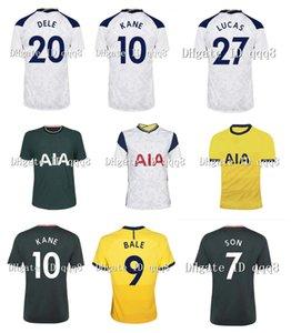 20-21 Spurs Football Maillots 9 BALE 10 KANE 7 SON 23 Bergwijn 5 Hojbjerg Football Shirts Domicile Extérieur Hommes Enfants personnalisés Numéro Nom