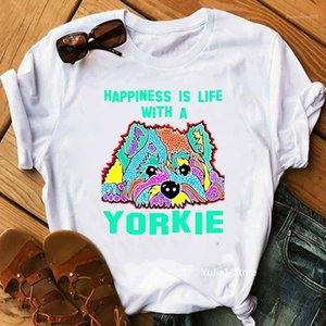 Yorkshirt terrier mamma grafica tees donna cane amante amante regalo t shirt bianco femme camisetas mujer estate top femminile t-shirt1