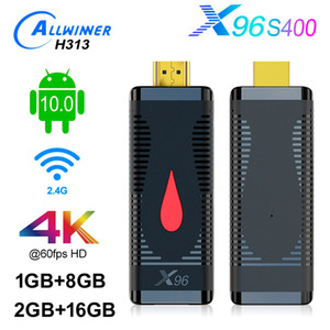 X96 S400 Android 10,0 TV Vara Allwinner H313 LPDDR Quad Core RTL8189 WiFi 1080P Smart TV Dongle vara Android10 2GB 16GB 1G 8G