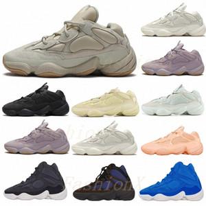 [Spedito entro 6 giorni] Deserto Rat 500 Vision Bone Bone Bianco Scarpe da corsa Mens Womens Moon Giallo Yellow Kanye West Sports Snowers Snakers Boots 9 #