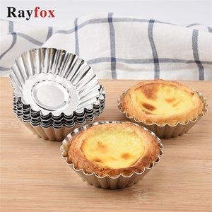 Baking Tools 10PCS Egg Tart Mold Kitchen Accessories Gadget Cake Decoration Flower pastry Mould Christmas Party Cocina Accesorio