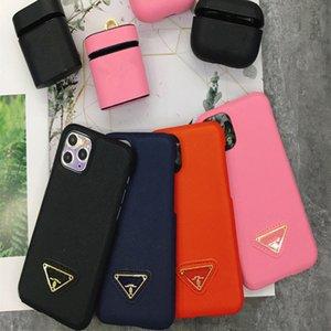 Casos de telefone Designer de Luxo para iPhone 12 11 Pro Max 7 8 mais moda PU couro tampa do iPhone X XS Max XR SE