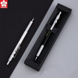 1pc SAKURA XS-305 Metal Automatic Mechanical Pencil 0.3 0.5mm Graphite Sketching Drafting School Office Supplies With Refill 201214