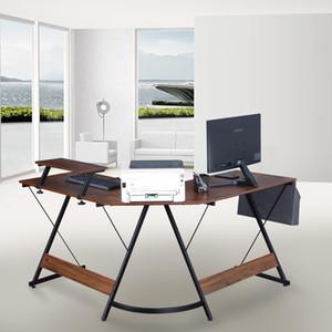 L-образный стол с монитористом, современный дизайн угловой компьютерный стол для офиса уходов