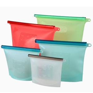 Reutilizável Silicone Fresh Food Mantenha Storage Bag dobrável Silicone Food Preservation Bag multi Vacuum Sealer Alimentos Picnic Bag fresco Mantendo Cont