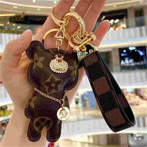 LL2020 Fashion Brand Dog Keychain Classic Chic Portachiavi Donne Uomo Uomini Luxury Car Pendant Unisex Designer Key Key Chain Growet Gioielli,