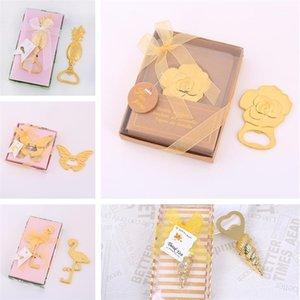 5 stili colore dell'oro Wedding apri creativo d'oro Beer Bottle Opener Rose Conchiglia a forma di farfalla accessori apri del partito
