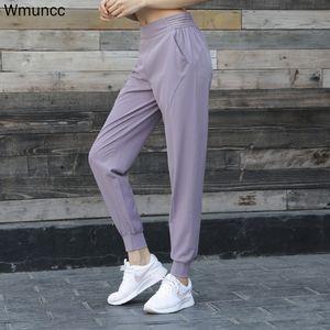 WMUNCC JOGGING pantalón suelto transpirable gimnasio leggings deportes mujeres fitness yoga pantalones cintura pantalones entrenamiento entrenamiento al aire libre 201103