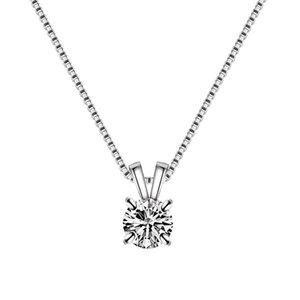 Hearts and Arrows Zircon Pendant Simple Fashion Temperament Girls Four Prong Necklace Jewelry Wholesale