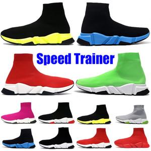 Yeni Çorap Ayakkabı Paris Hız Trainer Platformu Tasarımcı Ayakkabı Moda Üçlü Siyah Kırmızı Volt Oreo Bej Erkek Bayan Sneakers Koşu Ayakkabıları