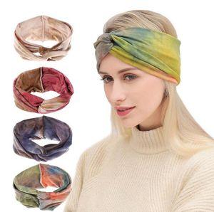 Women Girls Flower Boho Headbands Solid Elastic Hairbands Sport Headband Yoga Turban Headwrap Hair Accessories