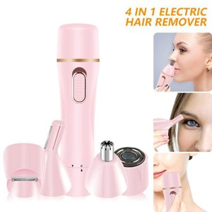 Epilatore impermeabile Donne Face Body Depilazione Lady Shaver Rasatura macchina elettrica Trimmer Razor per il naso del sopracciglio1