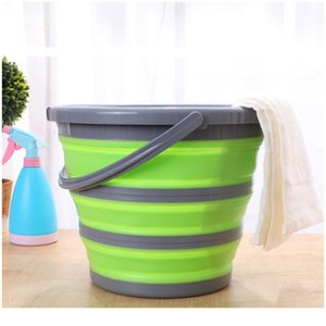 10l New Arrival Sile Folding Bucket Large Capicity Save Space Washabe Fishing Camping Car Bucket Kitchen Items Bald jllpYv