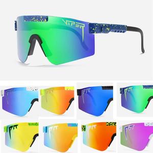 2021 حفرة الافعى جديد الأصلي الرياضة جوجل tr90 النظارات الشمسية الاستقطاب للرجال / نساء في الهواء الطلق ينبع نظارات 100٪ uv معكوسة عدسة هدية