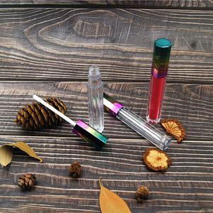 Boş 3ml Sekizgen 3 Renk Gradyan Dudak Parlatıcı Tüp Lipgloss Kozmetik Konteyner Sıvı Dudak sopa Depolama Bottlecan özelleştirilebilir LOGO