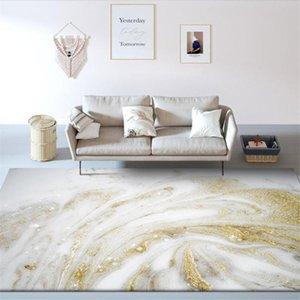 Wishstar Mármor Pattern White Gold Tapete Nordic para quarto ao lado do tapete de tapete de tapete geométrico tapete tapete de piso tapetes grandes