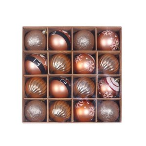 6cm 16Pcs 60mm Christmas Balls Xmas Tree Decoration Baubles Red Gold Glitter Ornaments Ball For Holiday Festive Atmosphere