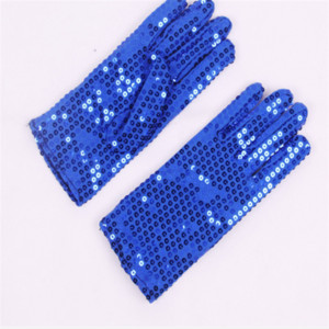 6 colors double side glitter sequin gloves jazz dance stage wear custome ps0468