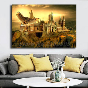 Harries Hogwartses Owl School Poster Potteres Canvas Paintings on The Wall Art Picture Movie Posters for Living Room Decoration