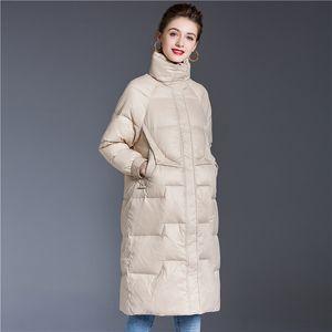 Women's Winter Jackets Coats Long Brand New Design 2020 New Fashion Female Down Parka Coat High Quality Warm Outerwear Womens
