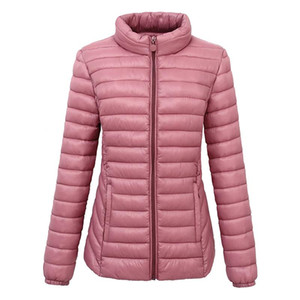 Stand collar parkas mujer 2021 women winter warm coat black red Pink cotton padded jacket female parka womens wadded coat