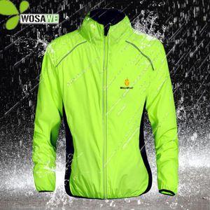 WOSAWE reflectantes repelente al agua CHAQUETA 5 desgaste del color Lluvia ropa de la bicicleta a prueba de viento Escudo MTB rompevientos S-3XL