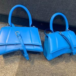 المرأة حمل أكياس الأزياء الفاخرة حقيبة رفرف الزرقاء الساعة الرملية TOP مصمم حقائب اليد HANDLE BAG الكتف محفظة مع B مشبك حقيبة مصمم CROSSBODY