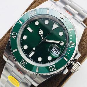 N Top Men Watches Mens Automático Relógios Mecânicos 904L 116610LN ETA 3135 Movimento Quadro Cerâmica Luminosa Mergulho Relógio Frete Grátis