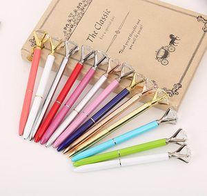 Lápiz de diamante de cristal de metal de lujo 8 colores lunares bolígrafos moda 19 quilates grandes ballido de diamante bolígrafos jllluls homecart