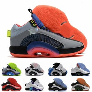 With Box 2020 New Mens Basketball Shoes 35s Eclipse Plate 2.0 Center Of Gravity Fragment Zoom Jumpman 35 Sports Trainers sneakers