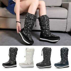 BJYL 2020 Winter New Keep Warm Snow Boots Women Zipper Platform Boots Australian Printing Waterproof Big Size 35-42