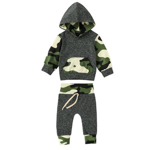 TELOTUNY Autumn Winter Infant Baby Boy Sets Camouflage Hooded Long Sleeve T Shirt Pants Set Outfits Wholesale Dropshipping Y1113