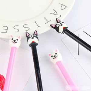 New Cute Korean Animal Puppy Dog Gel Pens Stationery 0.5mm Black Ink Student Signature Pens Office School Supplies