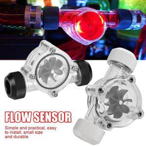 Flow Meter Indicator 8 Impeller G1 4 Threaded Port PC Water Cooling System Flow Meter Indicator VDX99